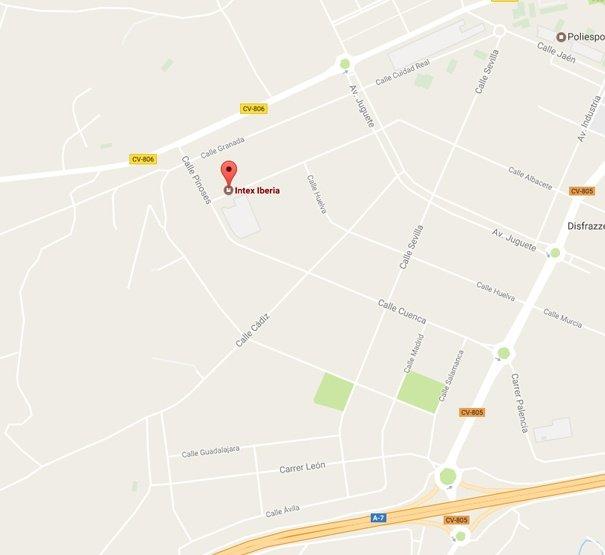 Localización Intex Iberia